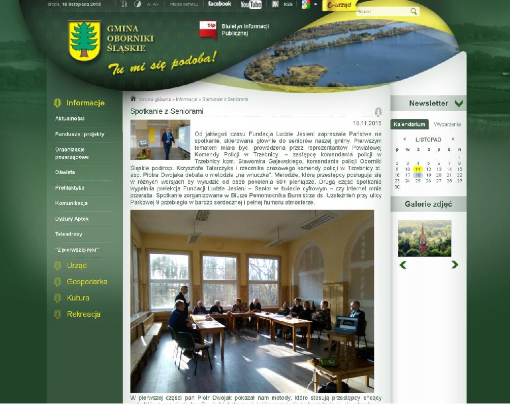 18928d54ca5200 Szkolenie Senior w e-świecie zostało zauważone przez UMiG Oborniki Śląskie,  któremu dziękujemy między innymi za udostępnienie sali. Czytaj więcej…